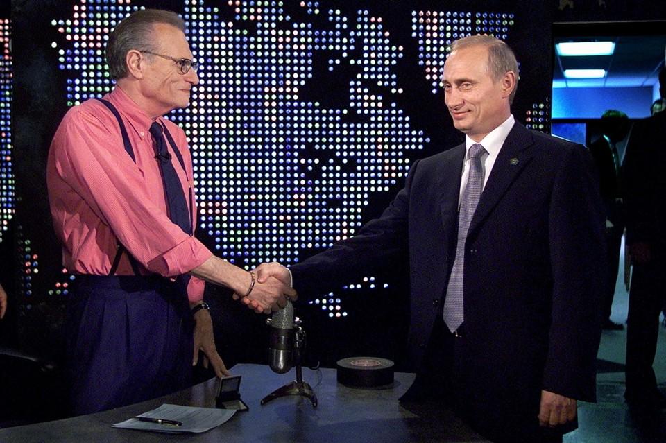 Владимир Путин дал интервью Ларри Кингу в сентябре 2000 года в Нью-Йорке