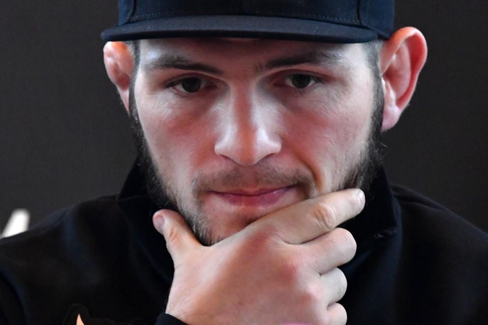Российский боец смешанного стиля, чемпион UFC в легком весе Хабиб Нурмагомедов