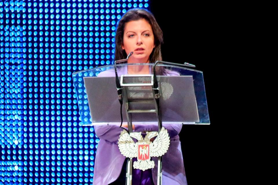 Речь Маргариты Симоньян на форуме в Донецке стала политической сенсацией. Фото: Валентин Спринчак/ТАСС