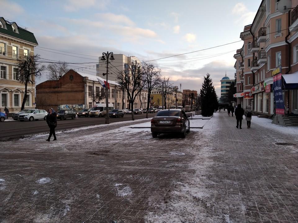 Курян просят быть более осторожными на улице