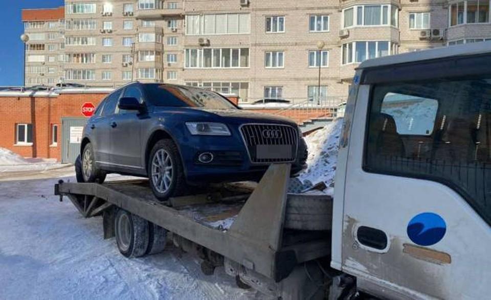 Изъяли автомобиль Audi Q5 Фото: пресс-служба УФССП по Удмуртии