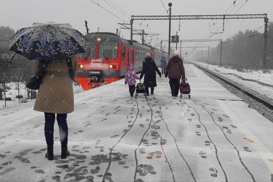 Из-за снегопада в некоторых электричках Владивостока увеличат количество вагонов