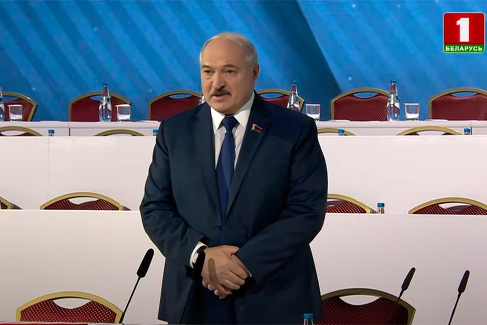 Лукашенко 12 февраля выступает на ВНС. Фото: скриншот