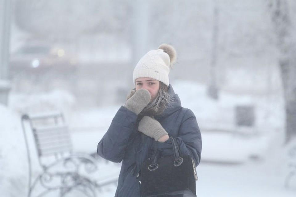 Экстремальный холод скует Кузбасс ночью