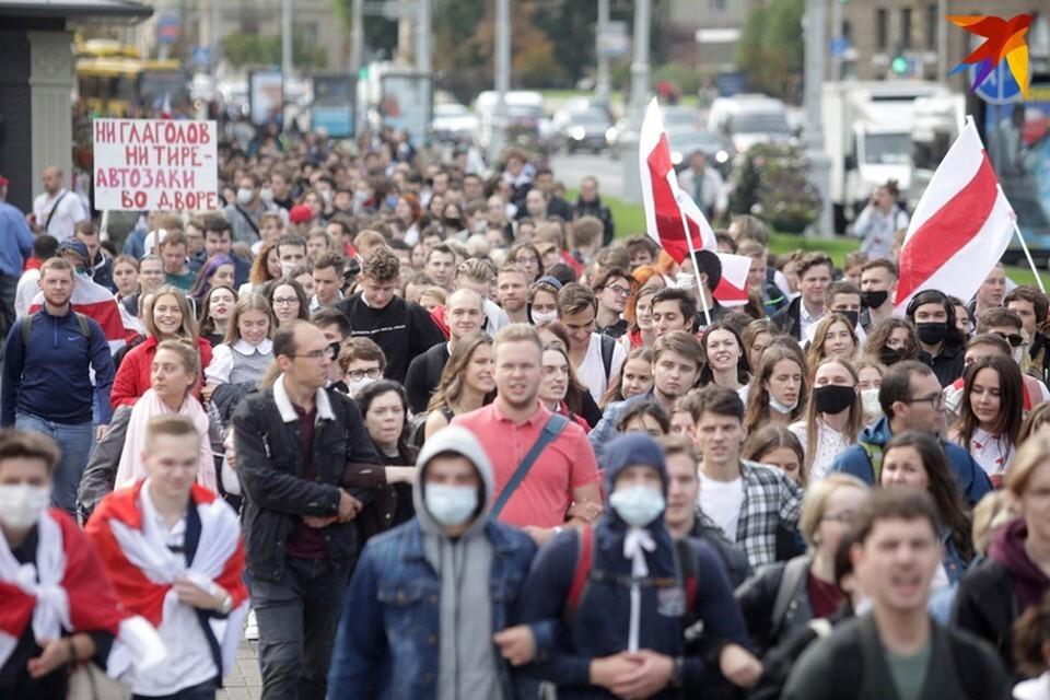 Марш студентов в Минске