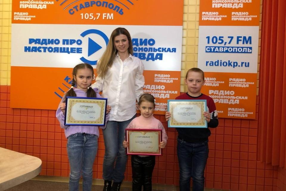 Трио победителей вместе со стоматологом «Центра 7» Татьяной Дьяченко