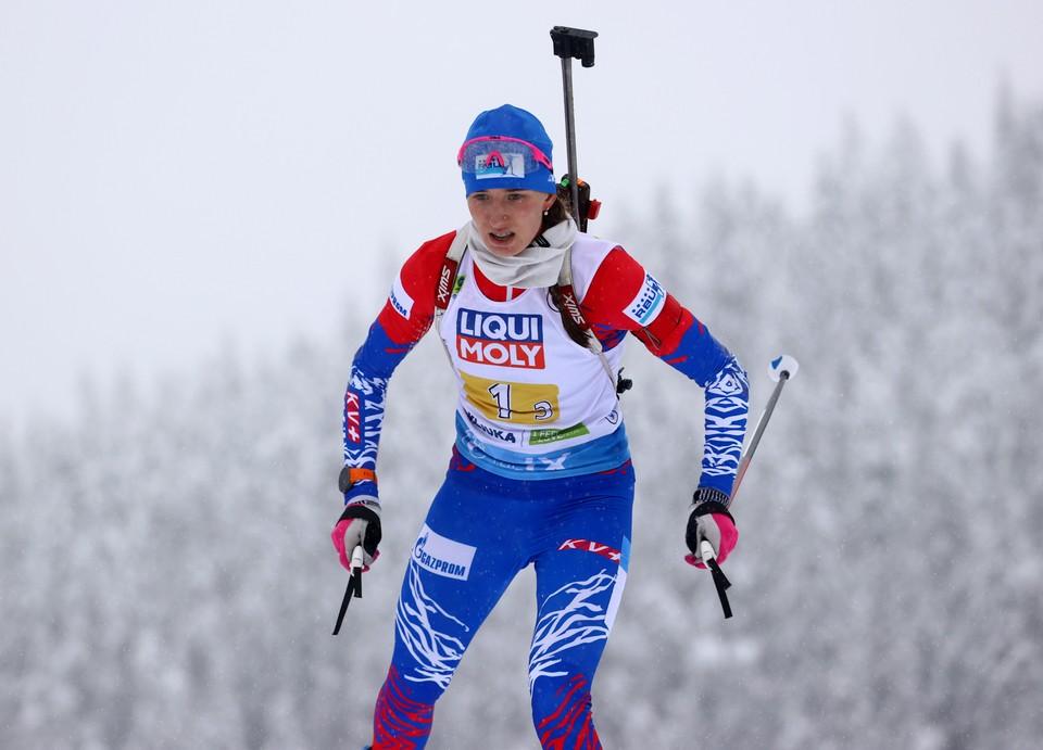 Светлана Миронова заняла пятое место в индивидуальной гонке на ЧМ по биатлону