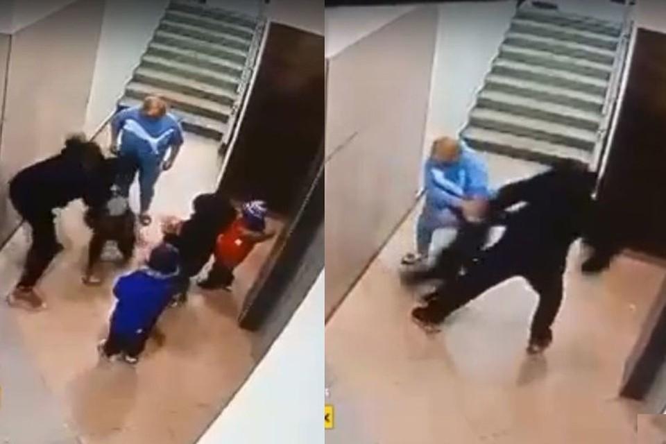 """Мужчина приходится детям дедушкой. Фото: Кадр из видео\""""Инцидент Новосибирск"""""""