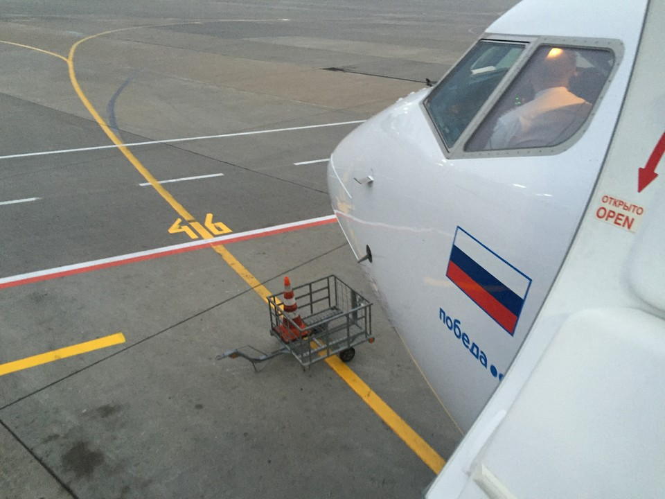 Задержан рейс ДР 414 авиакомпании «Победа»