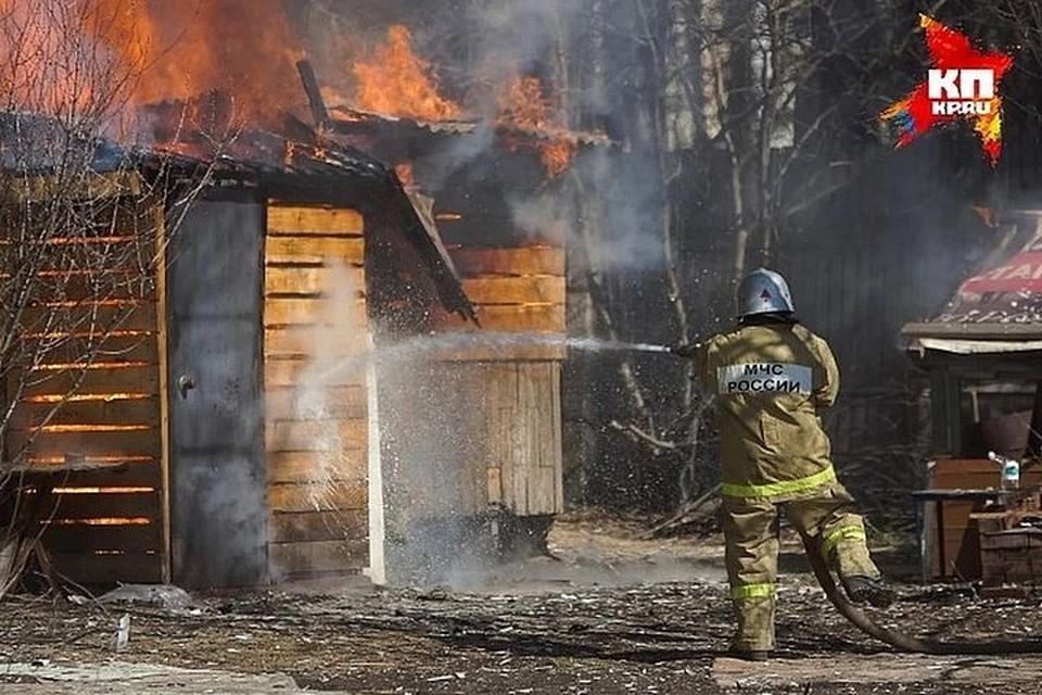 Пожар уничтожил частный дом