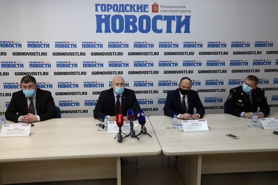 В пресс-центре газеты «Городские новости» обсудили проблемы мошенничества в Красноярске. Фото: пресс-служба администрации города