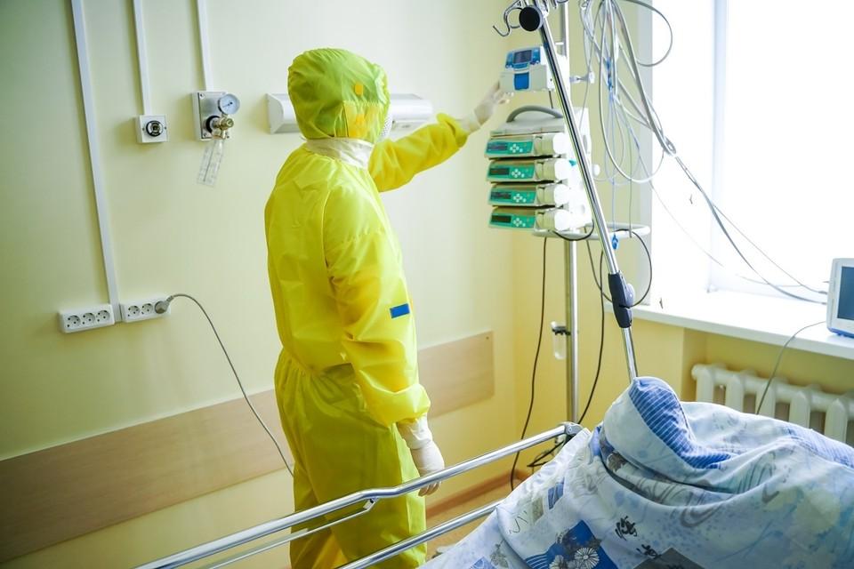 Мест в коронавирусных госпиталях хватает