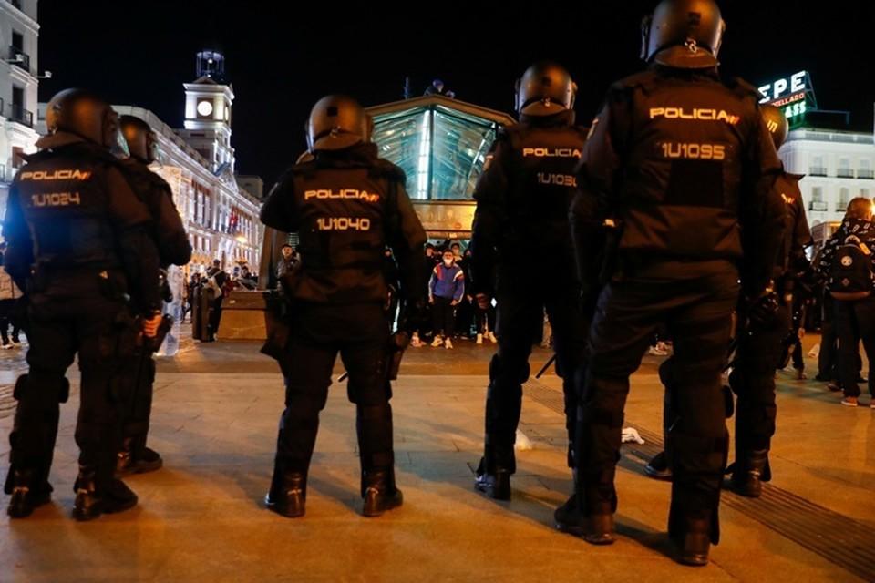 Акция протеста в центре Мадрида переросла в беспорядки