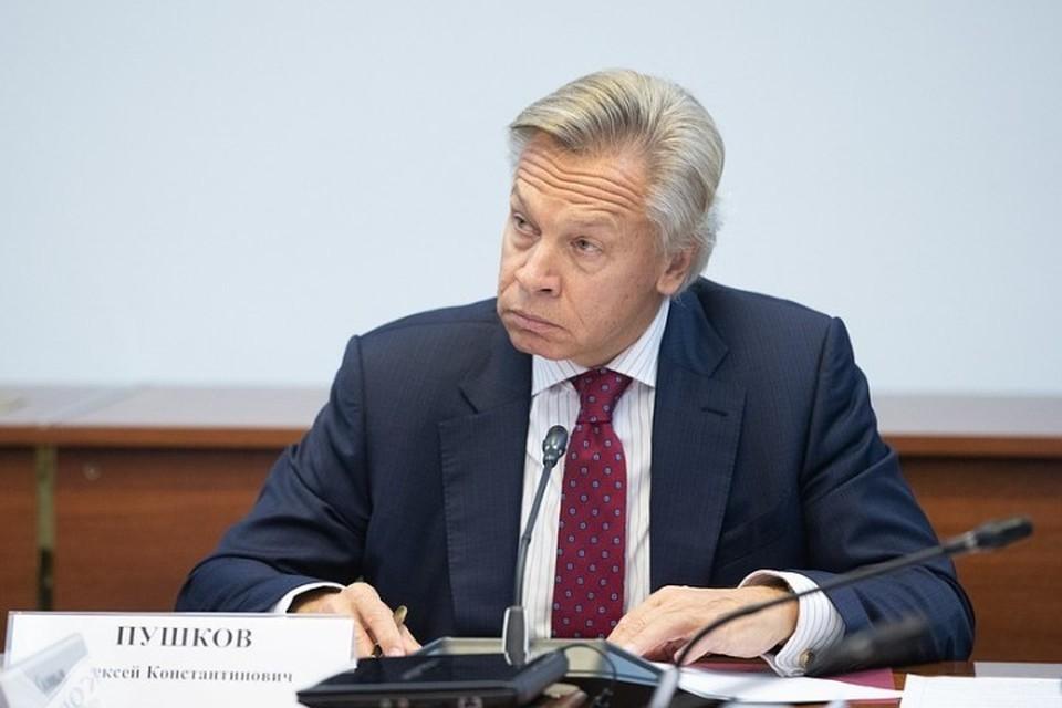 Председатель комиссии Совфеда по информационной политике Алексей Пушков