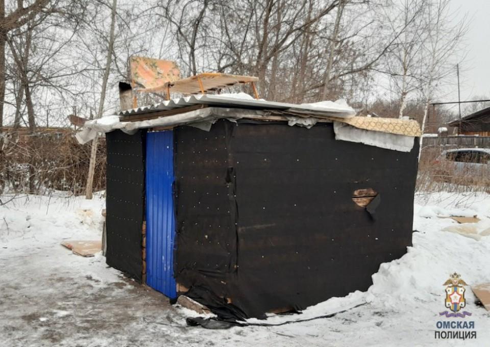 Два омича решили построить шалаш из того, что нашли на чужих дачах.
