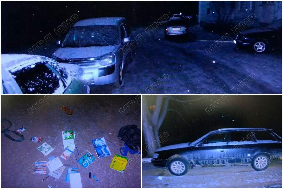 За ночь подростки вскрыли 13 автомобилей (Фото: МВД Приднестровья).