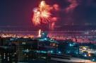 Видео и фото салюта на 23 февраля 2021 года в Новосибирске: в небо запустили 800 фейерверков