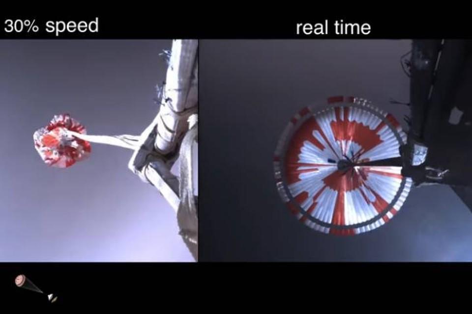 Зашифрованное послание нес на себе раскрывшийся марсианский парашют.