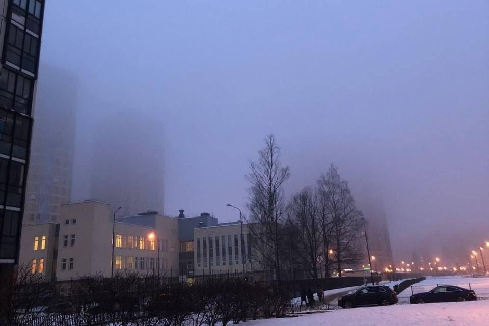 Туман опускался на Петербург еще утром.