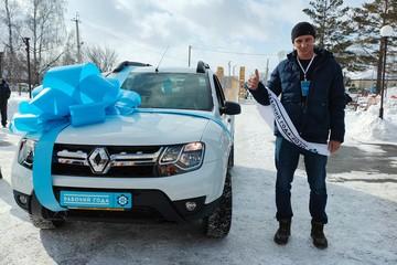 Водитель экскаватора выиграл новенький паркетник