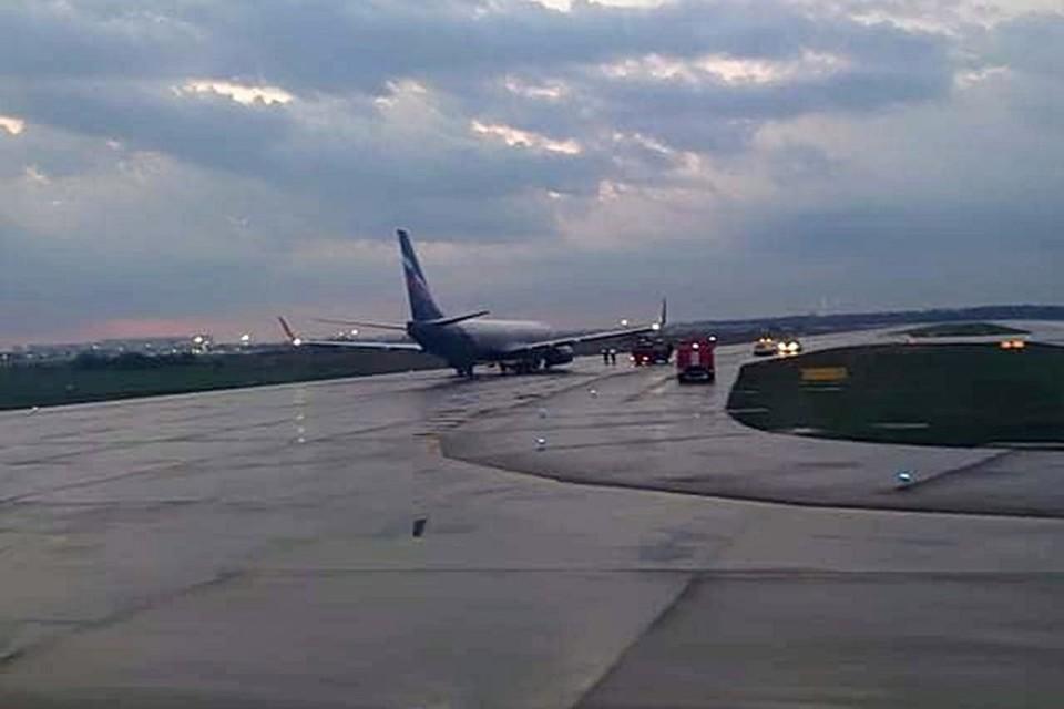 """Фото лайнера с неисправными закрылками. Предоставлено """"КП""""-Кубань"""" пресс-службой аэропорта Краснодар"""