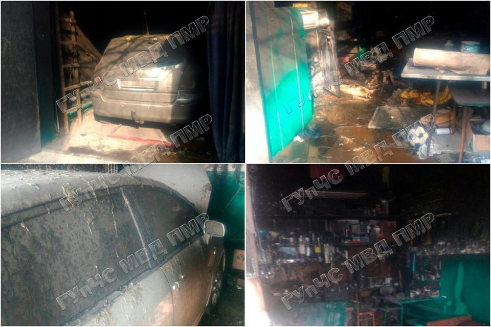 Школьники случайно подожгли гараж (Фото: МВД Приднестровья).