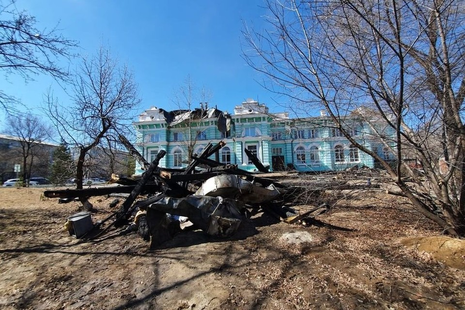 Находиться в здании кардиоцентра сейчас нельзя ни пациентам, ни врачам. Фото: правительство Амурской области