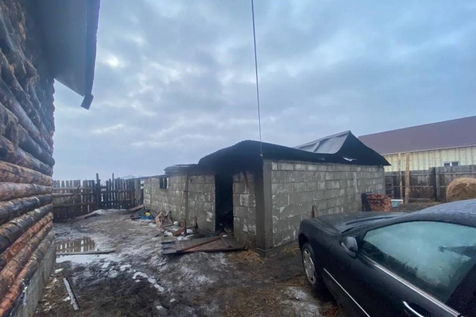 Конюшня с лошадьми сгорела в селе под Иркутском.