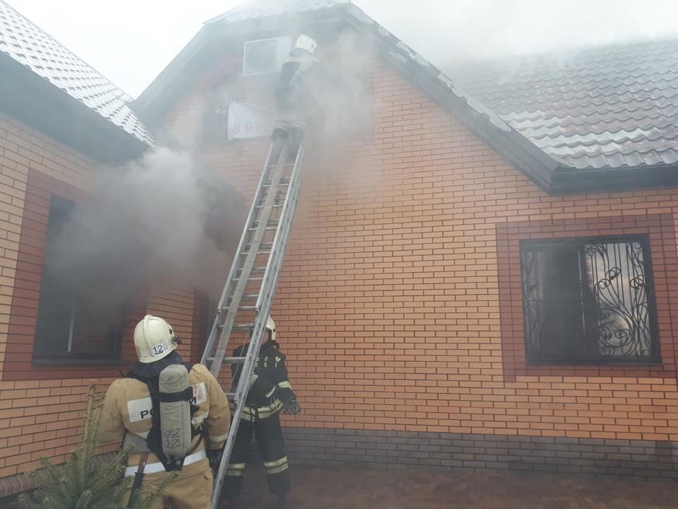 Общая площадь пожара составила 50 квадратных метра