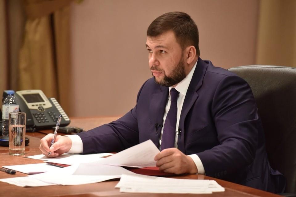 Глава ДНР Денис Пушилин ответит на интересующие вопросы. Фото: Сайт Главы ДНР