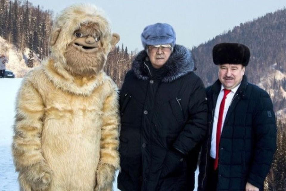 В Кузбассе в честь йети даже ввели новый региональный праздник - День снежного человека. Фото: instagram Амана Тулеева.