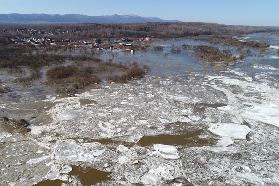 Нас топит, мама миа! Из-за затора на Амуре большая вода зашла в село Корсаково-2