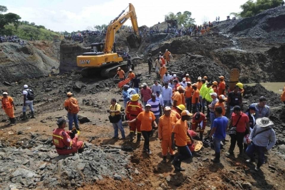 Авария на шахте в Колумбии произошла из-за схода оползня