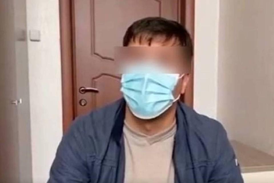 Личность лихача вычислили по видео в Иркутской области. Скрин с видео.