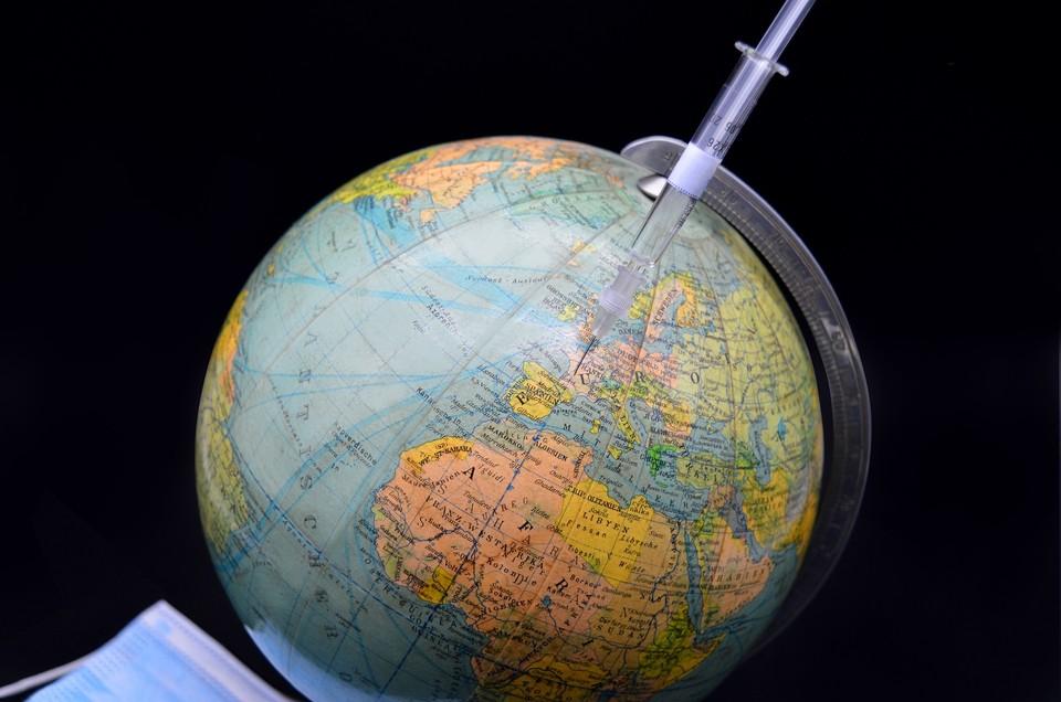 Карта распространения коронавируса на 21 апреля