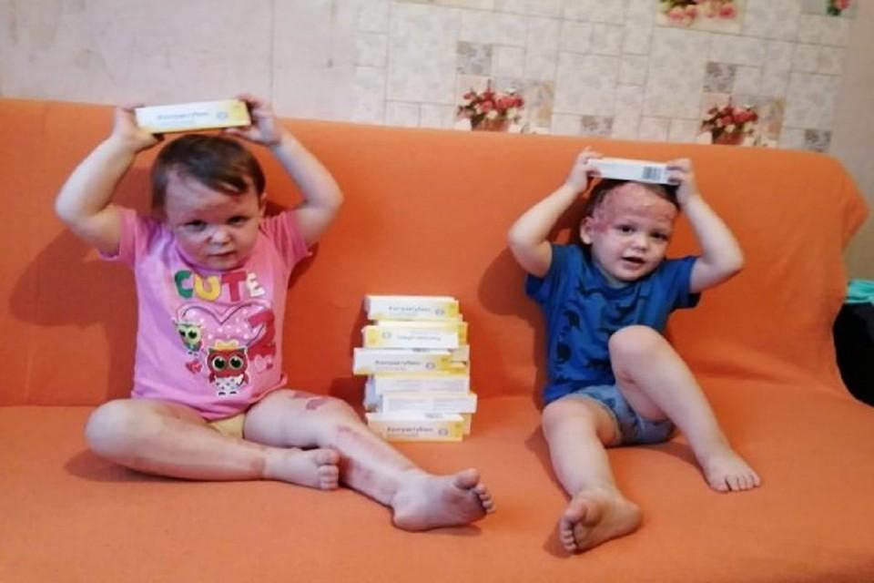 """Трехлетним двойняшкам, пострадавшим при пожаре в Новосибирске, требуется дорогостоящее лечение. Фото: """"Сибкрай""""."""