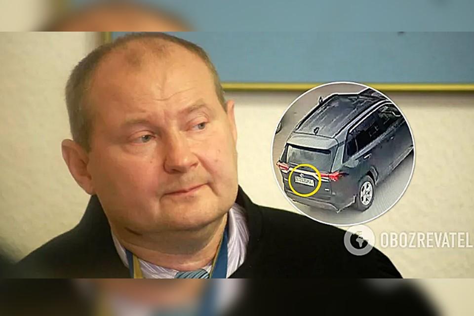 Никоалй Чаус и машина, на которой, предположительно, его вывезли из Молдовы на Украину.