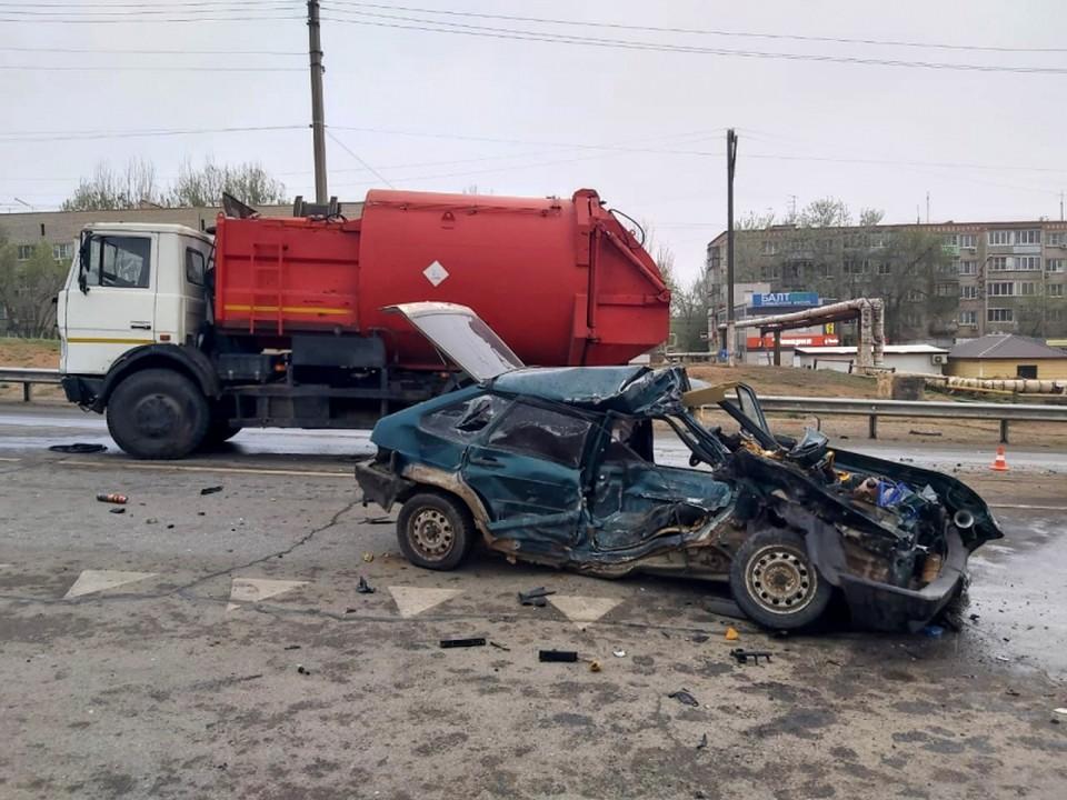 На правобережной части Астрахани произошло ДТП со смертельным исходом