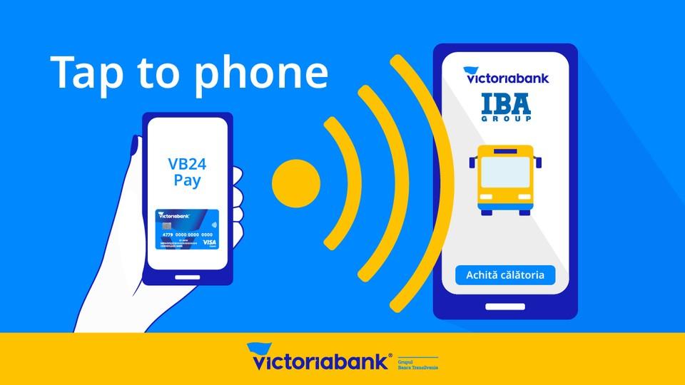 Victoriabank в партнерстве с IBA Group и Visa запустил инновационное приложение tapXphone, которое превращает любой смартфон в полноценный платежный терминал POS. Фото:victoriabank.md