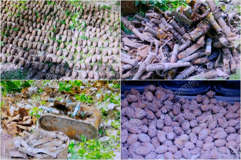 Все обнаруженные боеприпасы сапёры изъяли для дальнейшей утилизации (Фото: МВД Приднестровья).