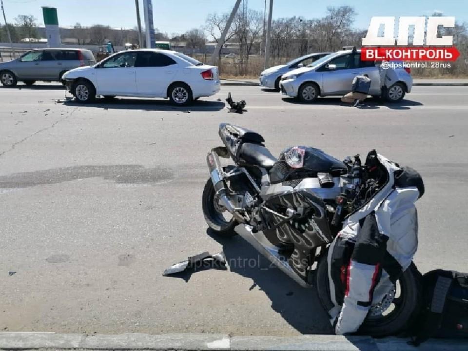 Один из участников скрылся с места аварии Фото: @dpskontrol_28rus