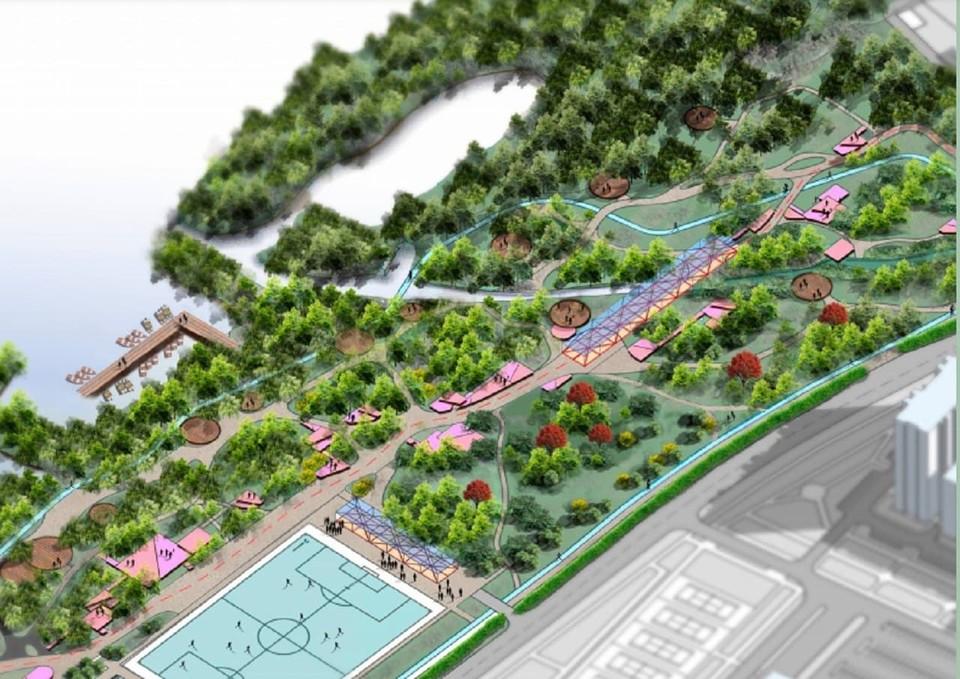 Новый парк построят вдоль Иртыша на Левом берегу. Фото: пресс-служба администрации Омска