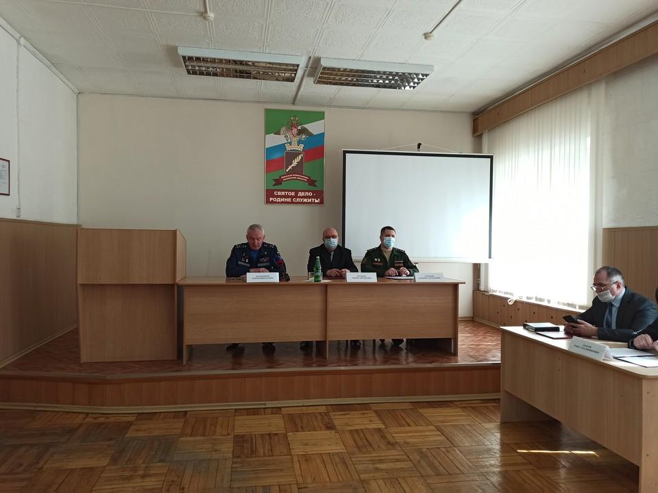 На мероприятии обсудили также ситуацию с призывом во время пандемии.