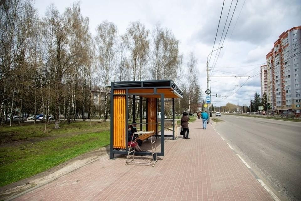 В Брянске на проспекте Станке Димитрова появилась новая остановка. Фото: пресс-служба Брянского городского Совета.