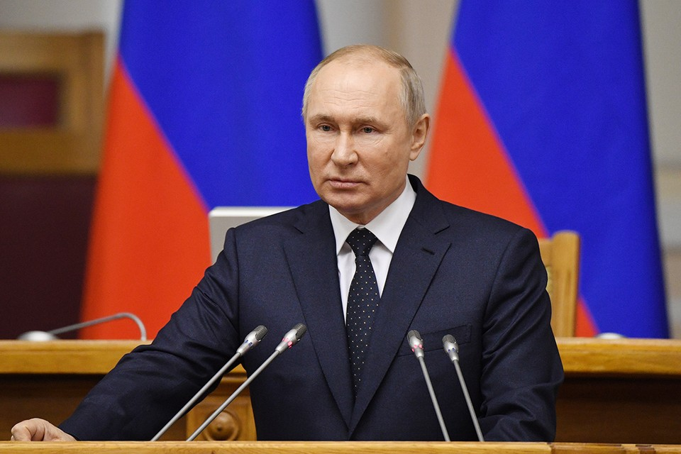 Президент отмечает в Питере День российского парламентаризма. Фото: Алексей Даничев/POOL/ТАСС