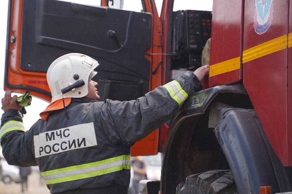 Площадь пожара составила пять квадратных метров.