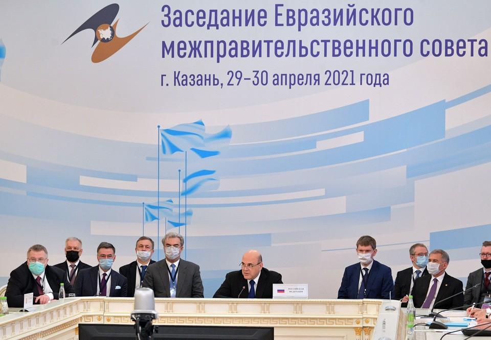 Заседание Евразийского межправительственного совета в Казани. Фото: Александр Астафьев/POOL/ТАСС