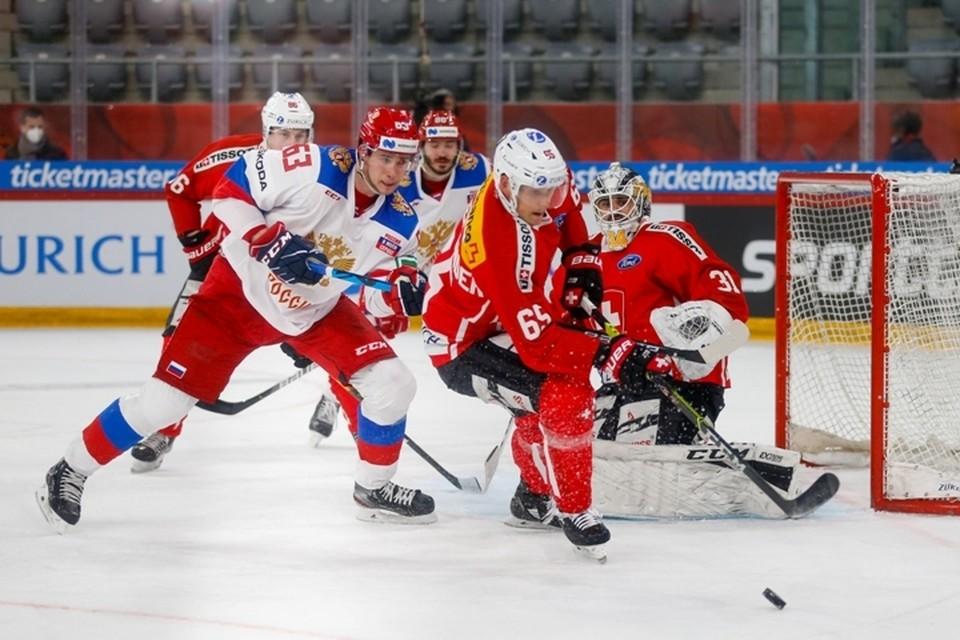 Сборная России по хоккею проиграла команде Швейцарии во втором матче Еврочелленджа