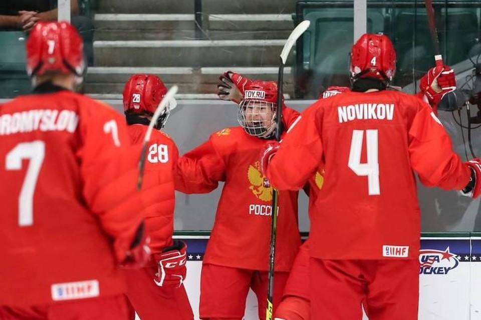 Хоккеисты юниорской сборной России обыграли чехов со счетом 11:1. Фото: Официальный сайт Федерации хоккея России