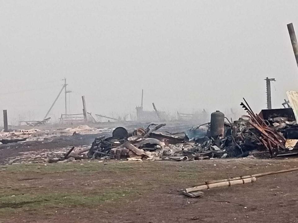 Так сейчас выглядит сгоревшая деревня. Фото: ГУ МЧС России по Омской области